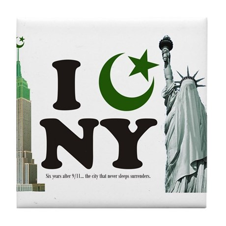 New York City under Islam Tile Coaster