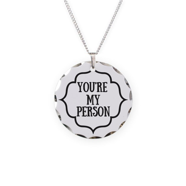 you are my person necklace circle charm by kennebug