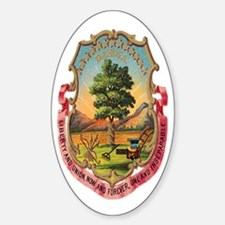 Dakota Coat of Arms Oval Decal