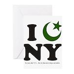 New York City - Islamic Greeting Cards (Pk of 20)