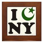 New York City - Islamic Framed Tile