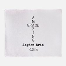 Amazing Grace Cross Custom Personalized Throw Blan