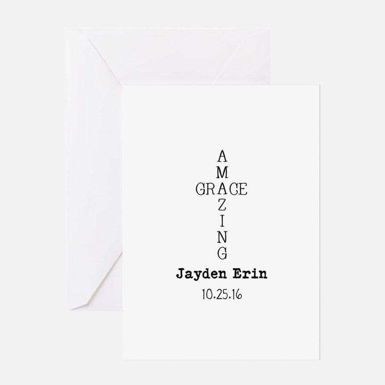 Amazing Grace Cross Custom Personalized Greeting C