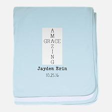 Amazing Grace Cross Custom Personalized baby blank