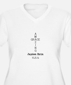 Amazing Grace Cross Custom Personalized Plus Size