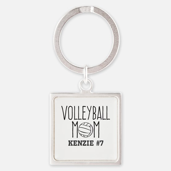 Volleyball Mom Personalized Custom Keychains