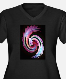 Muted Feather Swirl Plus Size T-Shirt