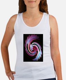 Muted Feather Swirl Tank Top