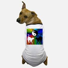 YIN YANG RAINBOW CATS Dog T-Shirt