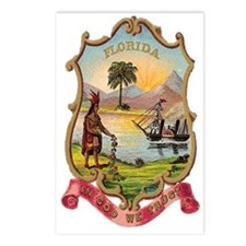 Florida Coat of Arms Postcards (Package of 8)