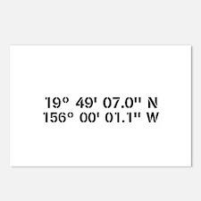 Latitude Longitude Personalized Custom Postcards (