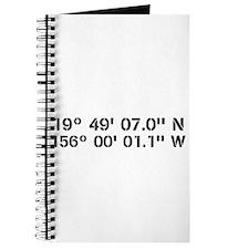 Latitude Longitude Personalized Custom Journal