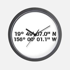 Latitude Longitude Personalized Custom Wall Clock