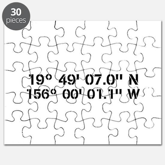 Latitude Longitude Personalized Custom Puzzle