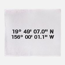 Latitude Longitude Personalized Custom Throw Blank
