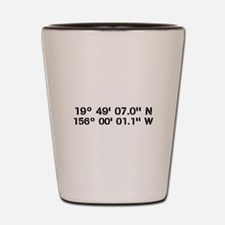 Latitude Longitude Personalized Custom Shot Glass