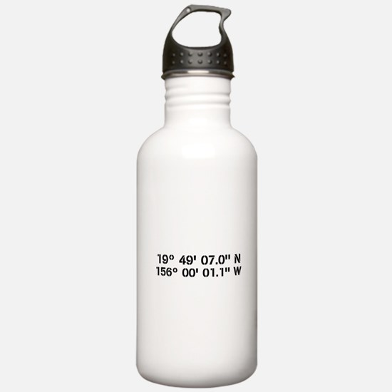 Latitude Longitude Personalized Custom Water Bottl