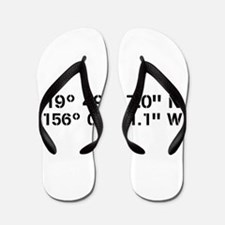 Latitude Longitude Personalized Custom Flip Flops