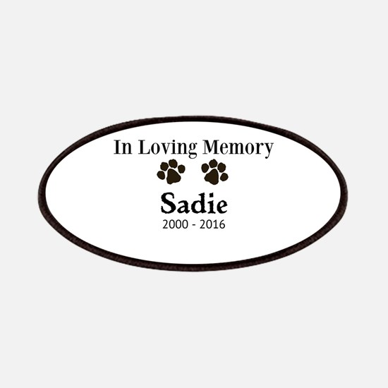 In Loving Memory Pet Paw Personalized Custom Patch