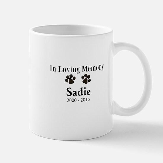 In Loving Memory Pet Paw Personalized Custom Mugs