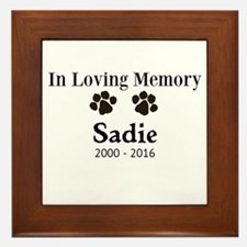 In Loving Memory Pet Paw Personalized Custom Frame