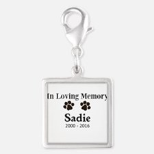 In Loving Memory Pet Paw Personalized Custom Charm