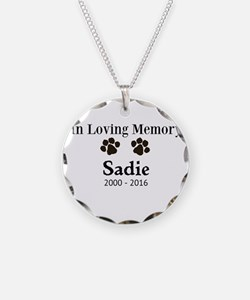 In Loving Memory Pet Paw Personalized Custom Neckl