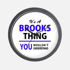 It's BROOKS thing, you wouldn't underst Wall Clock
