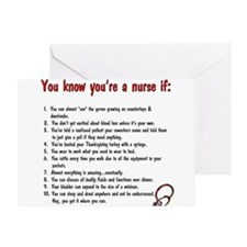 You're A Nurse If... Greeting Cards