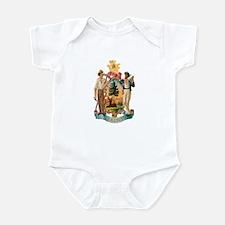 Maine Coat of Arms Infant Bodysuit