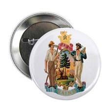 Maine Coat of Arms Button