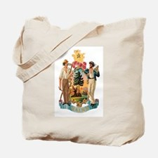 Maine Coat of Arms Tote Bag