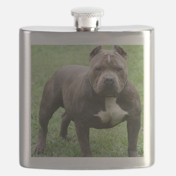 Cute Pitbull Flask