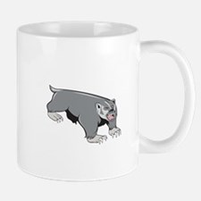 Badger Pouncing Cartoon Mugs