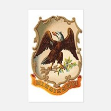Mississippi Coat of Arms Rectangle Decal