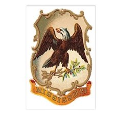 Mississippi Coat of Arms Postcards (Package of 8)