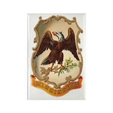Mississippi Coat of Arms Rectangle Magnet