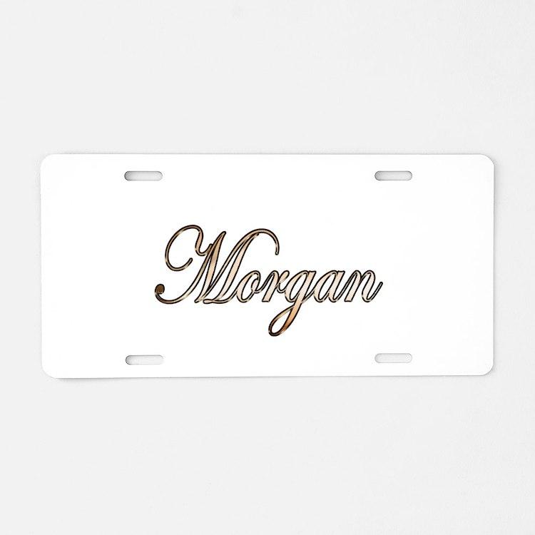 Gold Morgan Aluminum License Plate