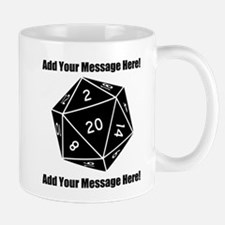 Personalized D20 Graphic Mug