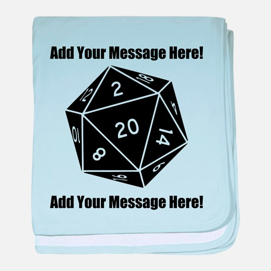 Personalized D20 Graphic baby blanket