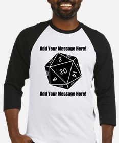 Personalized D20 Graphic Baseball Jersey