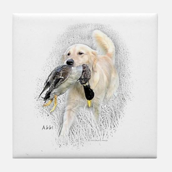 Abbi with Duck Tile Coaster