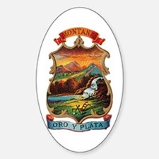 Montana Coat of Arms Oval Decal