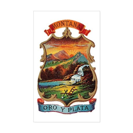 Montana Coat of Arms Rectangle Sticker
