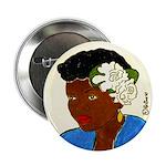 Woman w/Gardenias in Her Hair Button (10 pack)