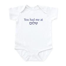You had me at Shalom Infant Bodysuit
