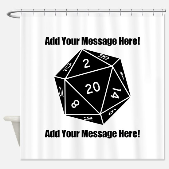 Personalized D20 Graphic Shower Curtain