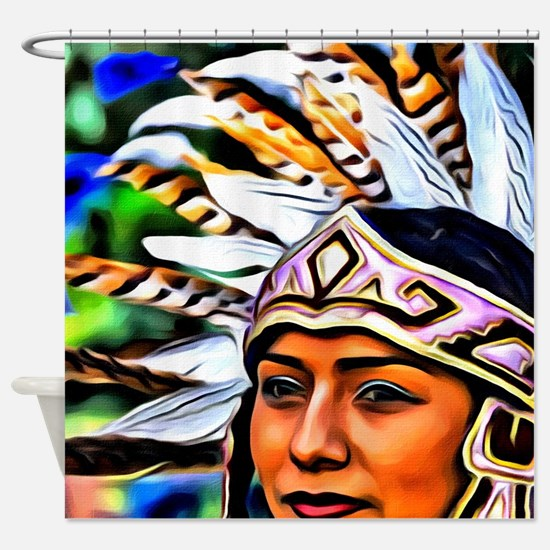 Aztec Priestess Shower Curtain