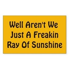Freakin Ray of Sunshine Rectangle Decal