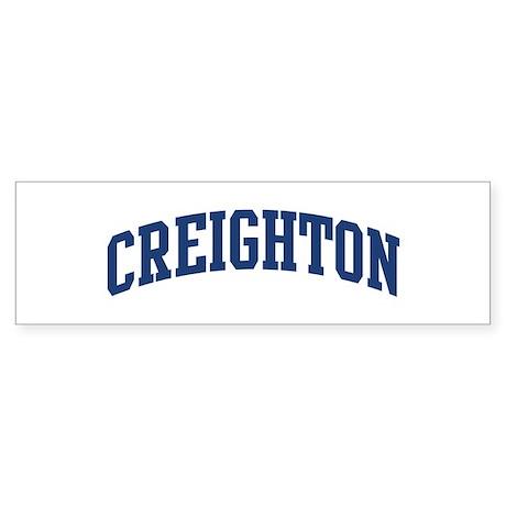 CREIGHTON design (blue) Bumper Sticker
